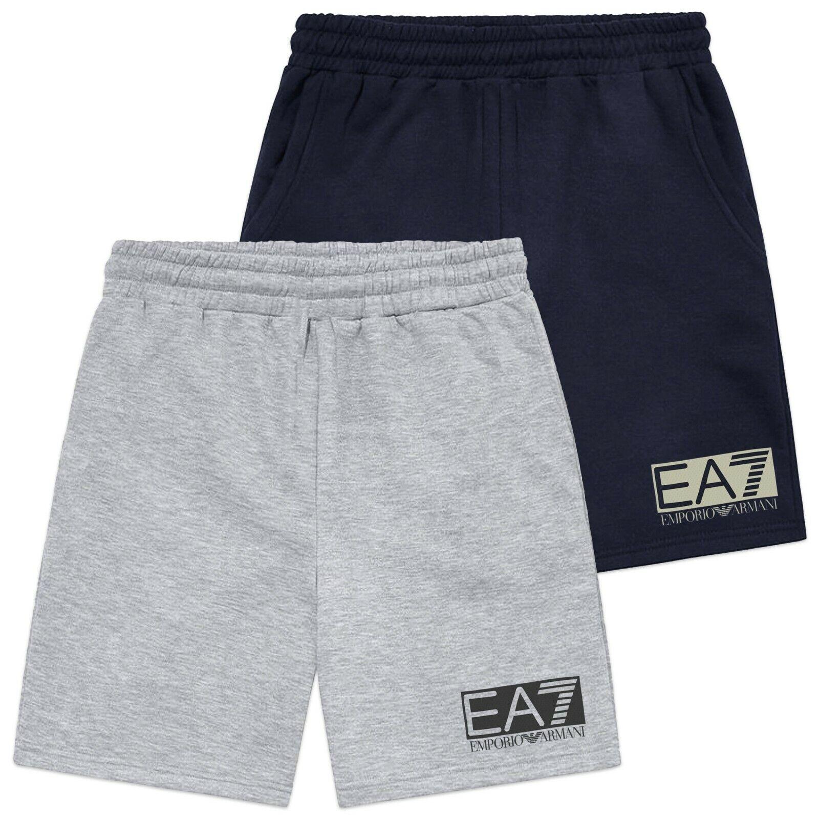 Emporio Armani Shorts - Emporio Armani EA7 Sichtbarkeit Jersey Shorts Shorts Shorts - grau, Navy c1b