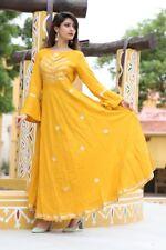 Indian Bollywood Designer indo western gown Kurta Kurti women ethnic dress -ff19