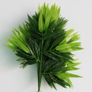 5pcs Bamboo Leaves Artificial Silk Plant Branch Decorative Home