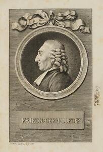 Chodowiecki (1726-1801). Portrait del strappato Friedrich Germanus Lüdke