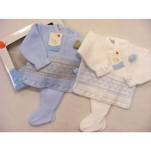 1b2d848aaec48 SALE* Spanish Suit Baby Boy's Knitted Pompom Suit /with Leggings/2 ...