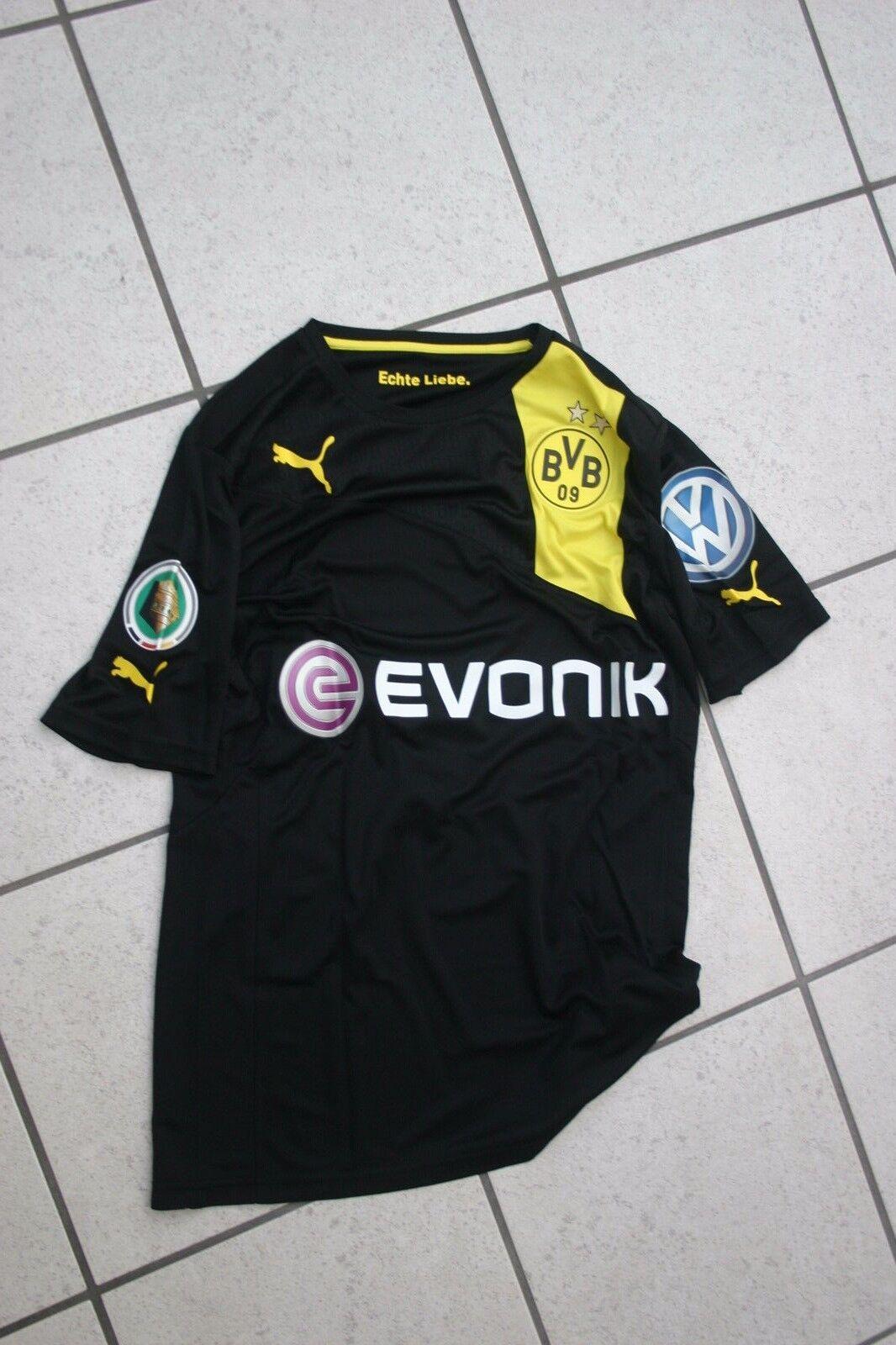 Matchvorbereitetes Trikot Pokal  LEITNER Nr. 7, BvB Dortmund Bundesliga