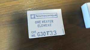 Overload Heater Element ITE // GOULD // TELEMECANIQUE T33 NEW-B Class G30
