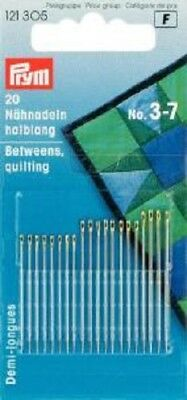 121305 20 Qualitäts Nähnadeln halblang Stärke 3-7 Prym Nadeln