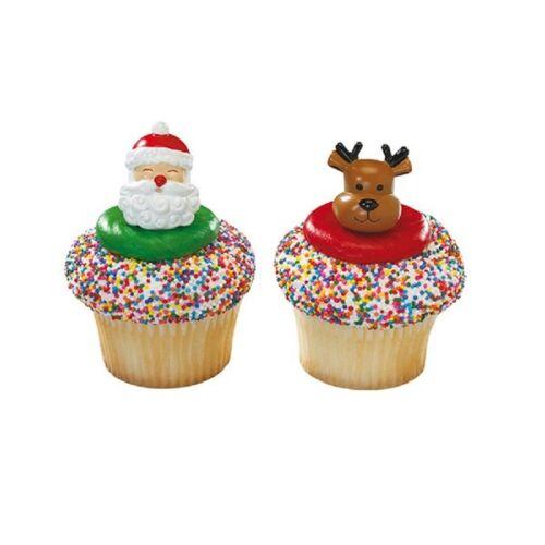 Picks//Santa Topper//Figures//Xmas//Snowman//Rings//Robin Christmas Cake Decorations