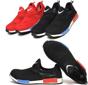 Men-039-s-Breathable-Slip-On-fashion-Safety-Shoes-Steel-Toe-Cap-Work-Boots-Trainers