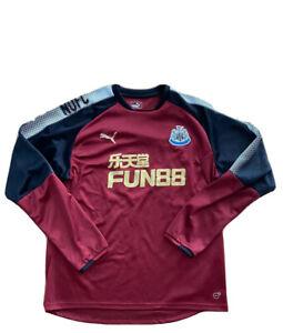 Newcastle-United-Puma-Soccer-Training-Top-Long-Sleeves-Sz-XL