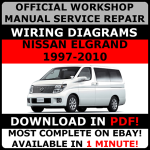 Stupendous Official Workshop Service Repair Manual For Nissan Elgrand 1997 2010 Wiring Digital Resources Inamapmognl