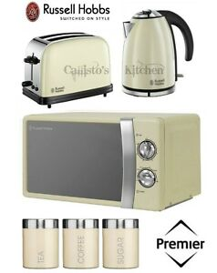 russell hobbs kettle and toaster set microwave cream. Black Bedroom Furniture Sets. Home Design Ideas