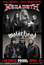 MEGADETH/MOTORHEAD LAS VEGAS 2014 CONCERT TOUR POSTER -2 Giants - One Night Only