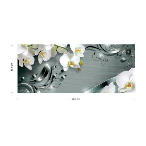 Luxe d/'ornement design Orchidées Papier peint papier peint polaire facile installer papier