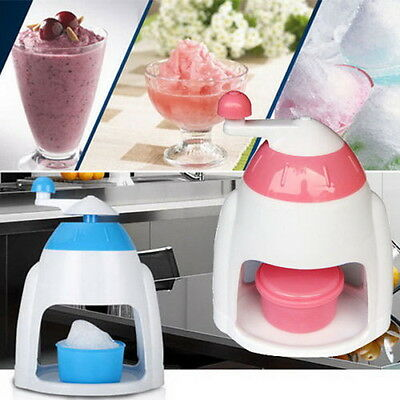 Summer Ice Candy Crusher Shaver Snow Cone Maker Manual Machine Home Kitchen LS