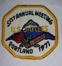 Jaycees - 51st Annual Meeting Patch, Portland 1971 FREE SHIPPING Portland Oregon
