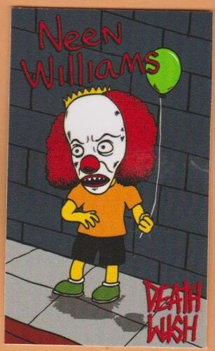 """Deathwish /""""Pennywise/"""" Powell Vision Independent Skateboard Sticker"""