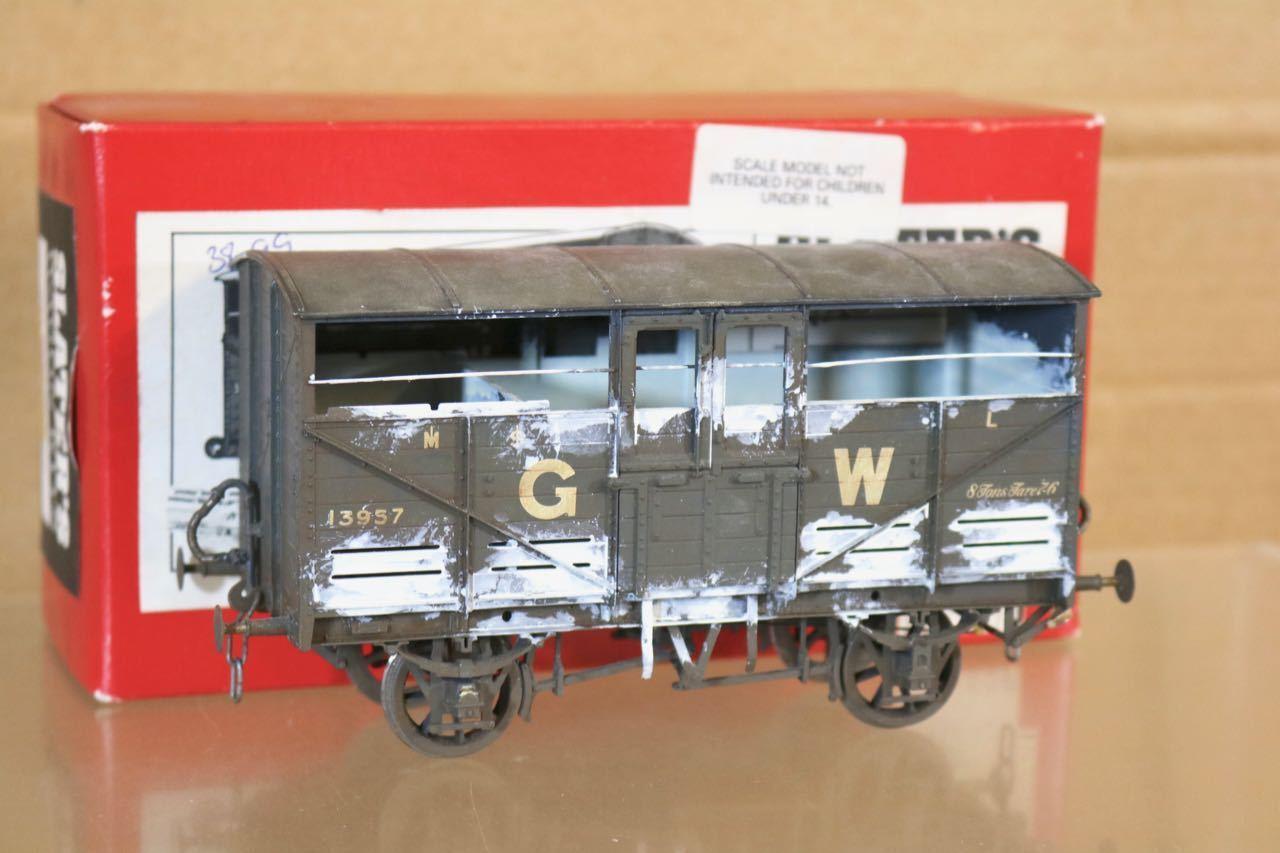 SLATERS 7054 O GAUGE WEATHErosso GW GWR grigio CATTLE WAGON 13957 BOXED nr