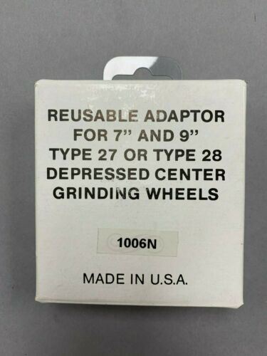 """Reusable Adaptor for 7/"""" /& 9/"""" Type 27 or Type 28 Depressed Center Grinding Wheels"""