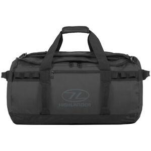 Highlander-Storm-Kitbag-45L-Duffle-Bag-Running-Gym-Sport-Water-Resistant-Black
