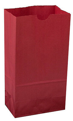 Colored Paper bags RED Bags AS LOW AS 25¢ ea BIRTHDAY Lunch TREAT Favor