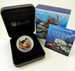 2009-AUSTRALIA-SEA-LIFE-LIONFISH-Silver-Proof-Coin
