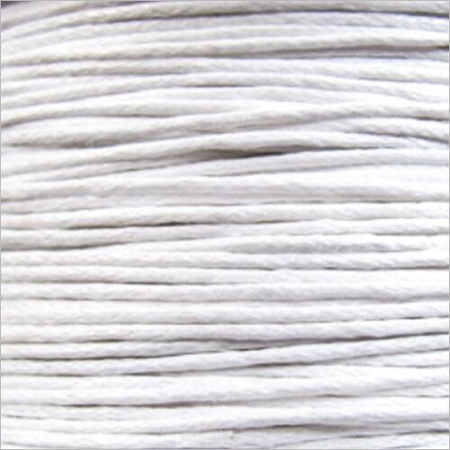Cordon Coton Ciré 0,8mm 5 Mètres Blanc pour Colliers et Bracelets de perles