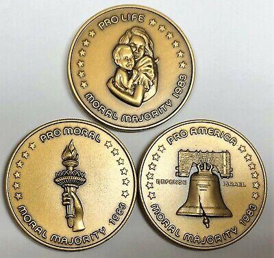 # C8803 Moral Majority 3 Pcs. Bronze Medals, 1983