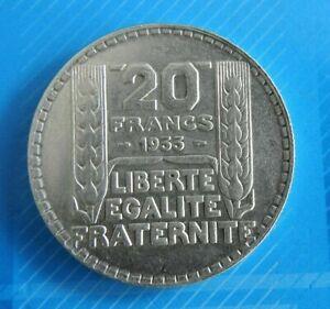 2105-JOLIE-PIECE-DE-20-FRANCS-TURIN-ARGENT-1933-SUP