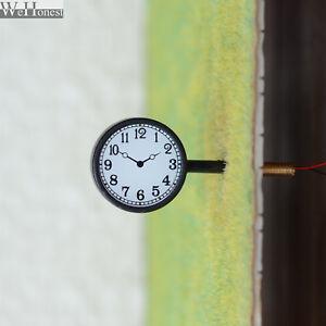 1 x O scale antique station platform clock led street light illuminated 2 sides