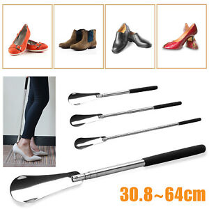 Extra-Long-Handle-Shoe-Horn-Stainless-Steel-25-034-Handled-Metal-Shoehorn-Horns-US