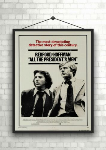 All The Presidents Men Classic Vintage Large Movie Poster Art Print A0 A1 A2 A3