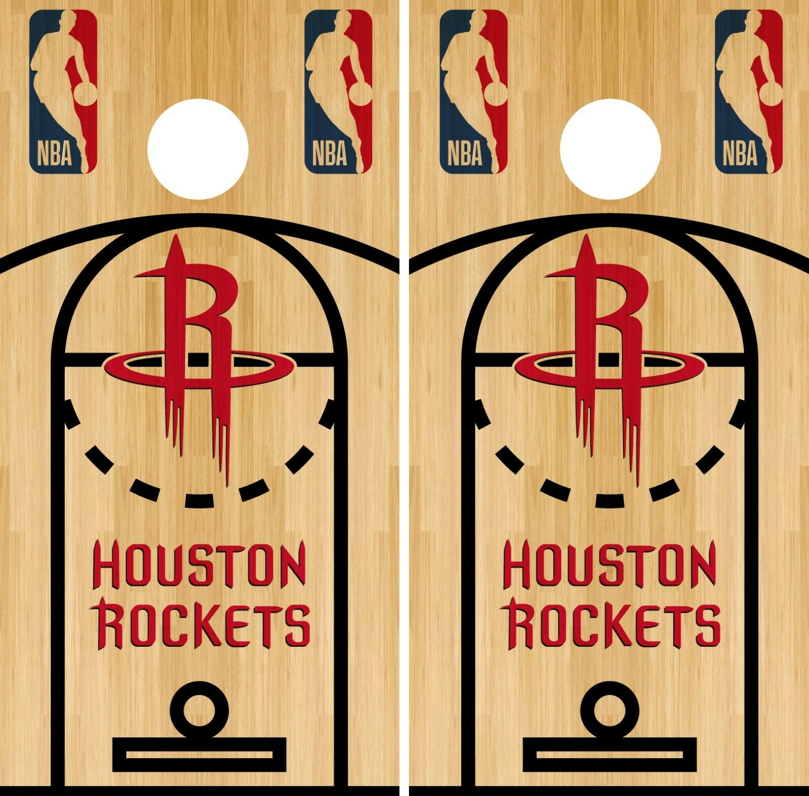 Houston Rockets Cornhole Wrap NBA Court Game Board Skin Set Vinyl Decal CO614