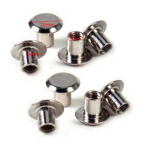 100stk-10mm-Buchschrauben-Leder-Nieten-Spike-Ziernieten-Schraubnieten-Punk-NEU
