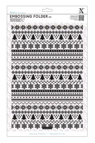New Docrafts Fairisle Pattern A4 Embossing Folder