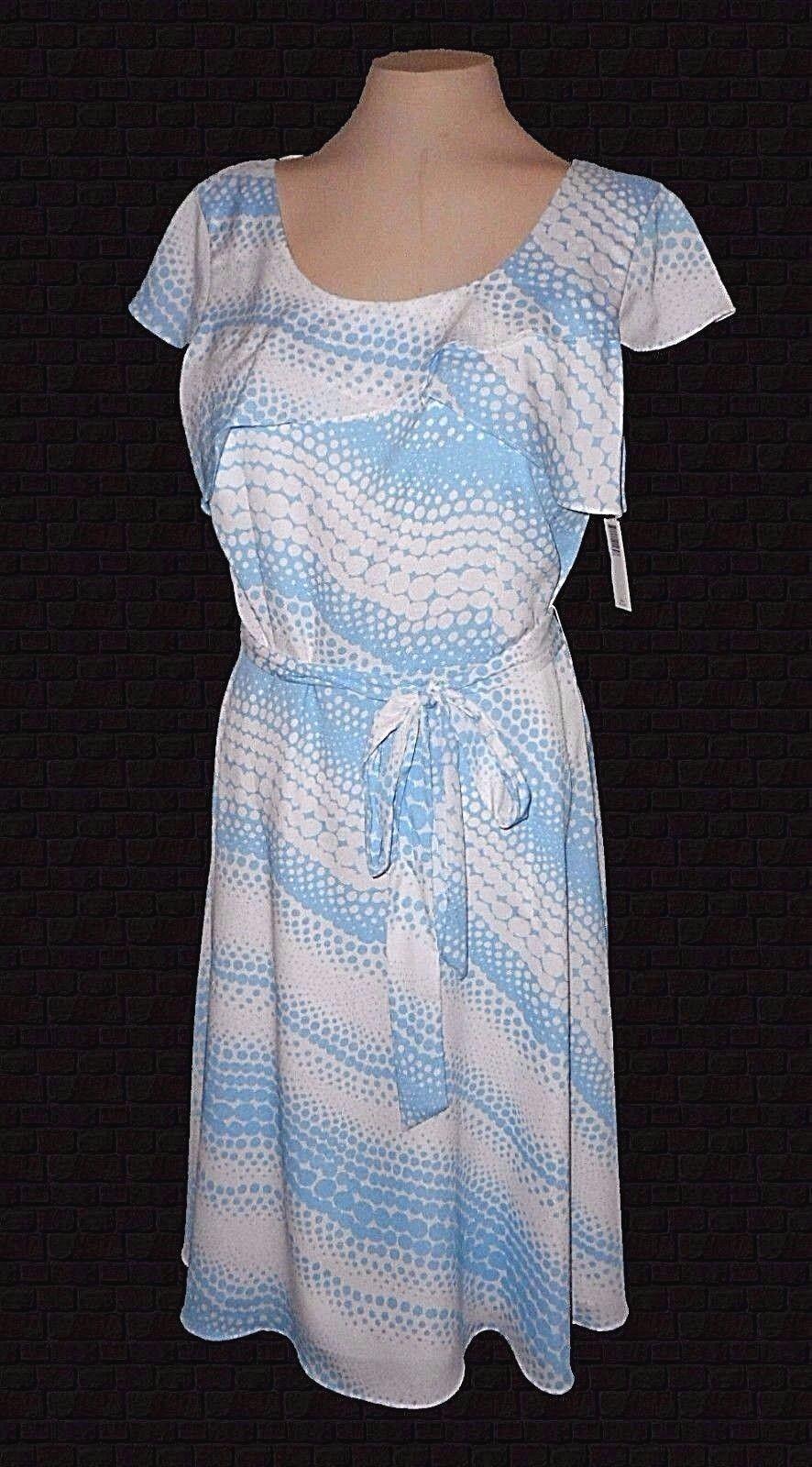 New Dress, Alex Marie, bluee Buffle-Dots Ruffle Belt MSRP- 129.00  8