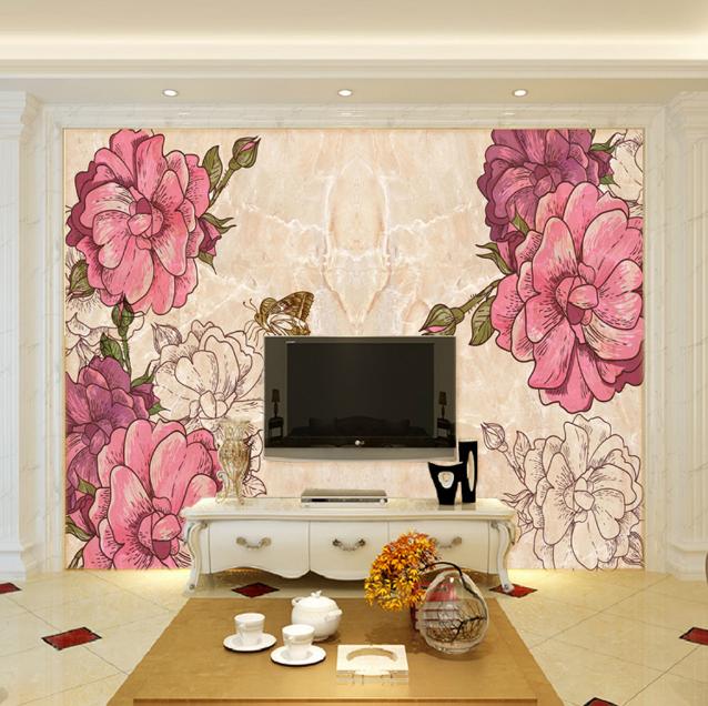 3D Blühende Blumen 863 Tapete Wandgemälde Tapete Tapeten Bild Familie DE Summer