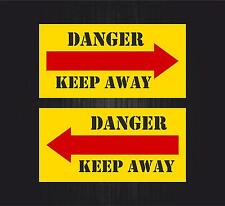 2x Autocollant sticker macbook voiture avion aviation aeroport keep away