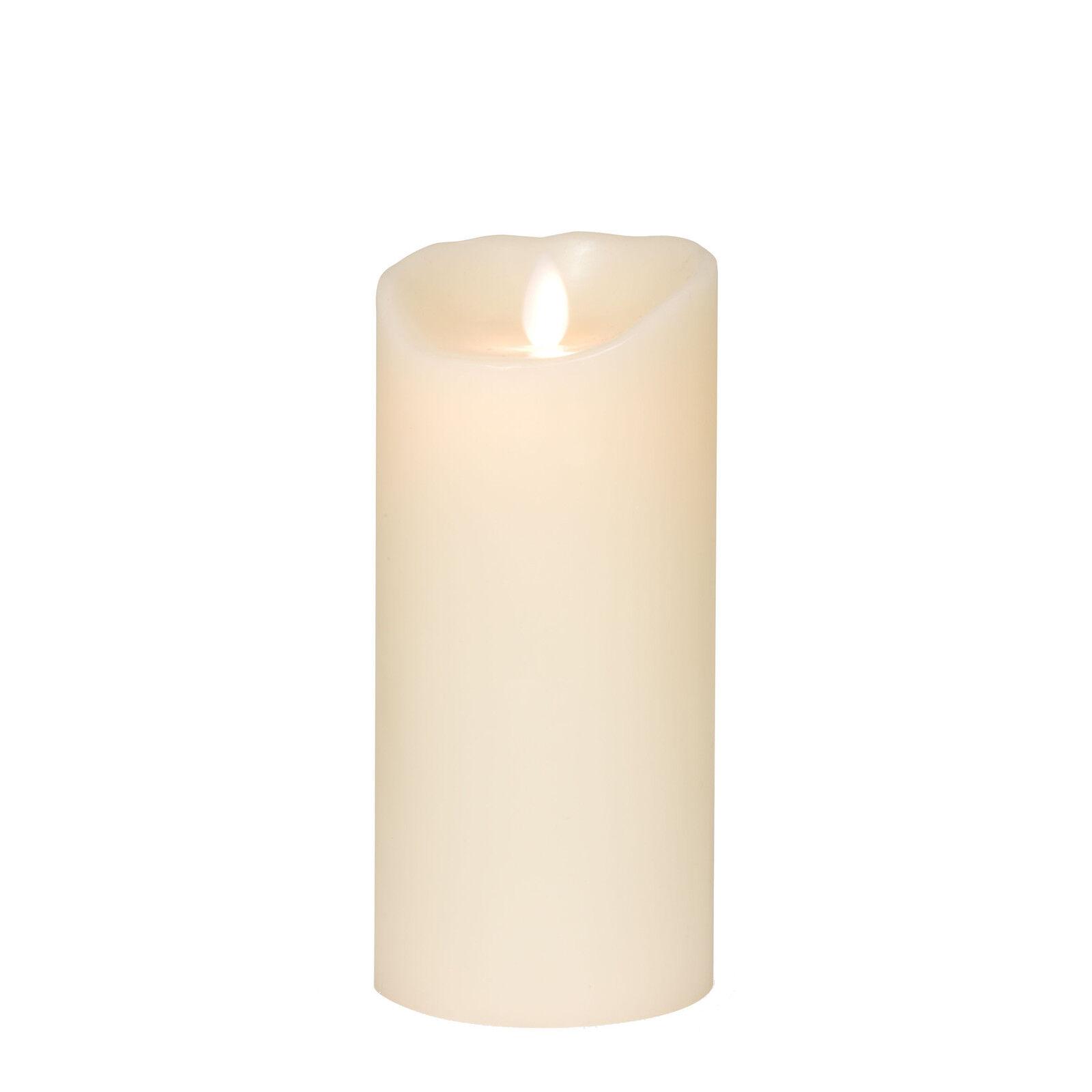 Flame LED Echtwachskerze h 18 elfenbein elfenbein ø 8 cm, h 18 cm | Online Outlet Shop