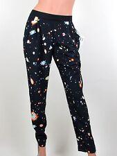 MADE FOR IMPULSE Pants XS Black Galaxy Print Joggger Straight Leg Womens NWT