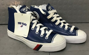 Plastic Shoes Blue Vintage Top New Pro Keds Basketball High Rare Pvc 0OP8nwkX