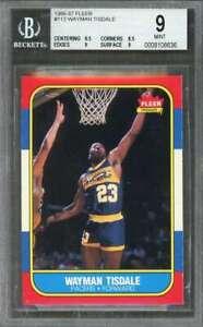 Wayman-Tisdale-Rookie-Card-1986-87-Fleer-113-Indiana-Pacers-BGS-9-9-5-8-5-9-9