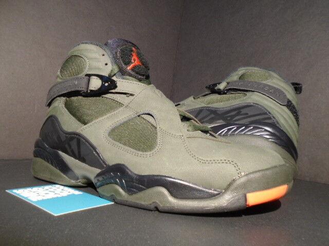 Nike air jordan viii 8 retro - ungeschlagen undftd sequoia schwarz grüne max orange - schwarz sequoia c406bd