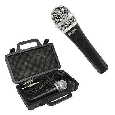 Dynamisches Bühnen und Gesangs Mikrofon inkl. Case und 5 Meter Kabel XLR Klinke