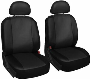 TOYOTA COROLLA VERSO Leather Look MAYFAIR Black FRONT Car Seat Covers