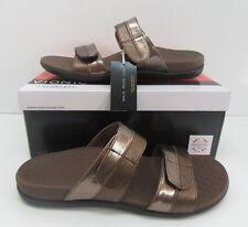 Vionic Orthaheel Shore Double Strap Adjustable Sandals Bronze Size US 9