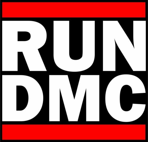 RUN DMC Vinyl Sticker Decal full colour band logo Rap