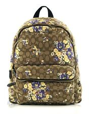c2e2fe2d Coach F31915 Signature Floral Quilted Charlie Backpack Light Khaki Multi