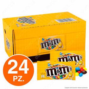 M&M's Confetti con Arachidi Ricoperte di Cioccolato - Box con 24 Bustine da 45g