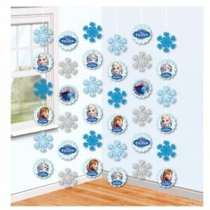 6pk-Disney-Frozen-Enfants-Fete-D-039-Anniversaire-Suspendu-Strings-ficelle-decorations
