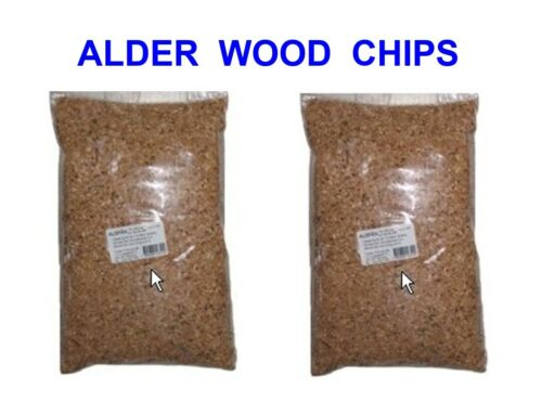 2 X 500g BAGS OF ALDER WOOD CHIPS FOR FISH MEAT POULTRY FOOD SMOKER OVEN COOKER