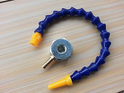 "1//4/"" Single Hole Magnetic Base 24/'/' 600mm Length Coolant Hose for Milling"