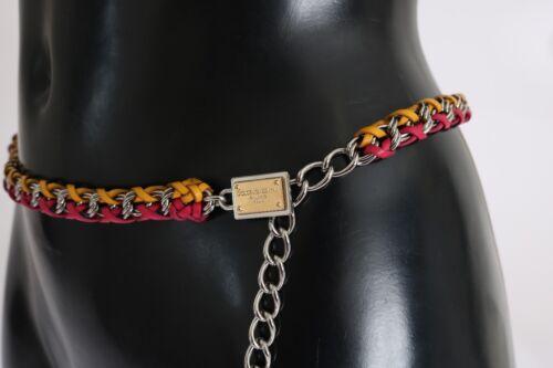 Cintura Cristallo 80 Cuoio 81 DolceGabbana 85cm Nuovo Rosso 3 Giallo Logo 8NwPyvm0nO